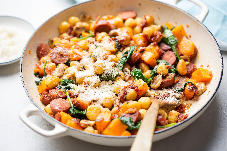 Butternut Squash and Chorizo Gnocchi